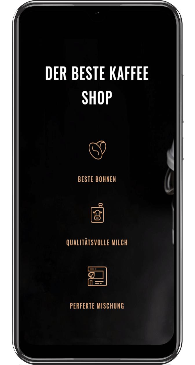 Ahvi, Kaffee-Shop, App, Handyversion, automatische Skalierung, Demo, Webdesign, Webseite, Homepage,