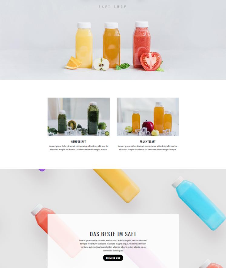 Ahvi, Saft Shop, Getränke, Demo, Webseite, Homepage, Mediengestaltung