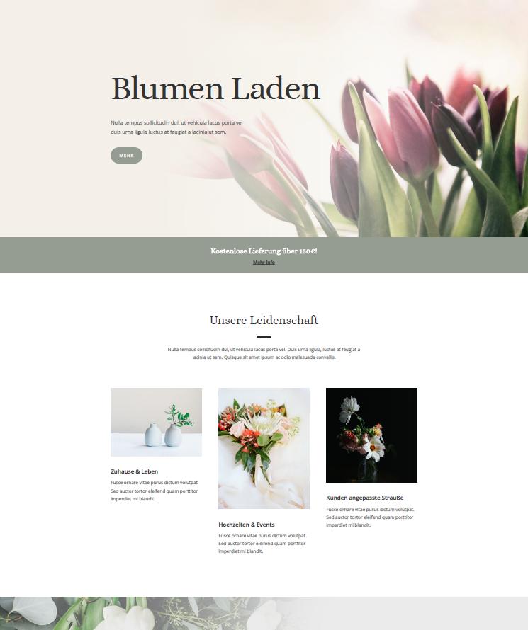 Ahvi, Blumenladen, Floristen, Webdesign, Webseite, Homepage